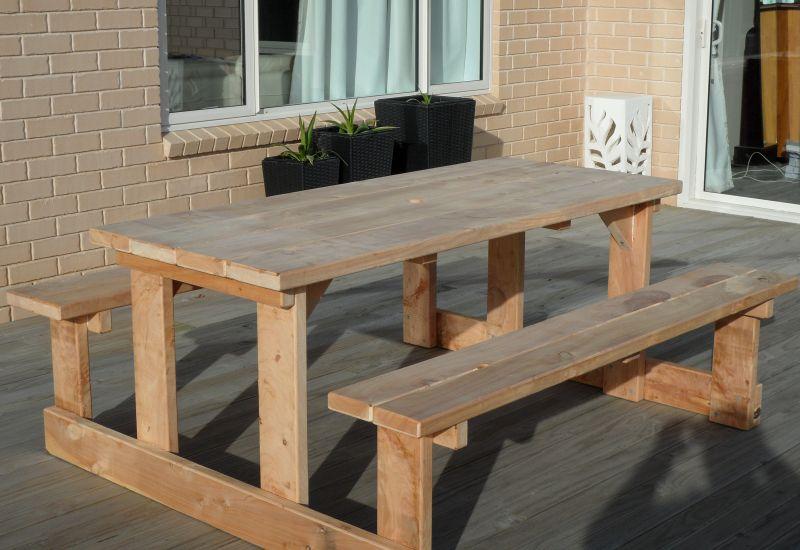 1.8m Straight Leg Picnic Table